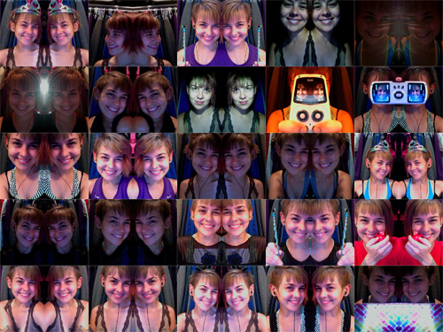 Lifestreamed faces