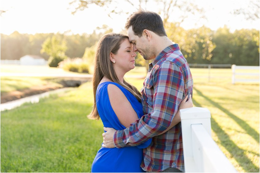 couple candid engagement portrait at holly ridge manor