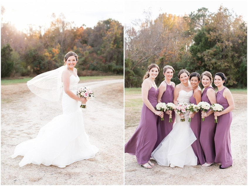 winter wedding at the Williamsburg Winery, bridal party portraits, Jessica Ryan photography, Williamsburg wedding day