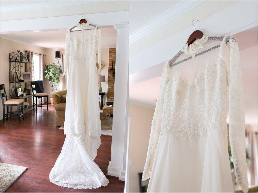 mother's vintage wedding dress