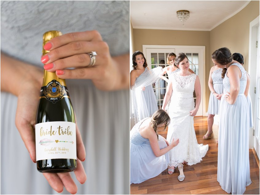 bride tribe champagne bottle jessica ryan photography wedding planning tips for brides