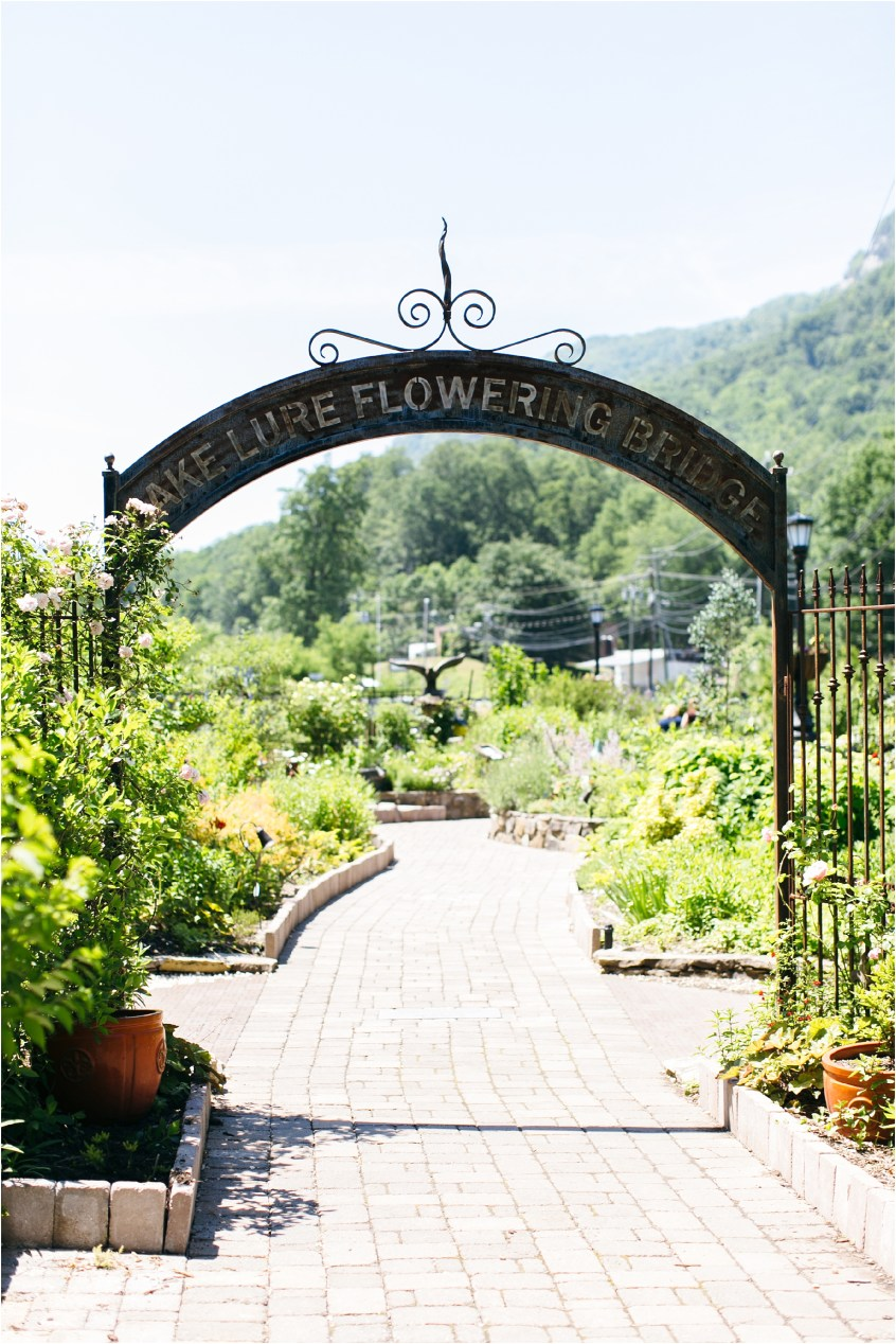 lake lure north carolina flower bridge