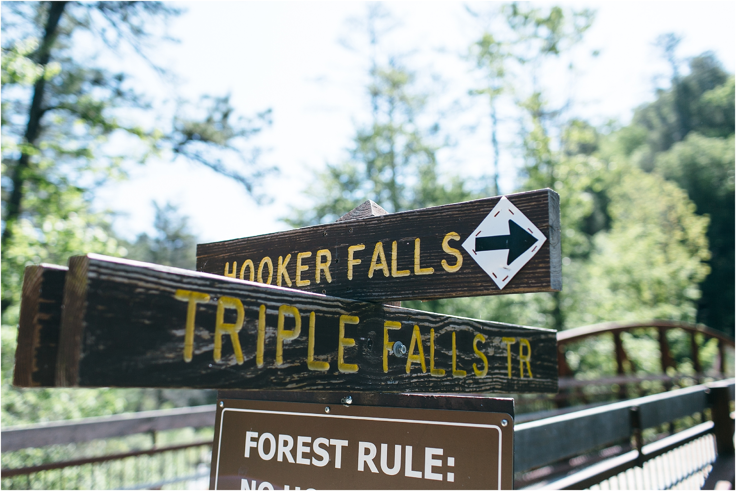 asheville north carolina honeymoon wedding photographer hooker falls trail