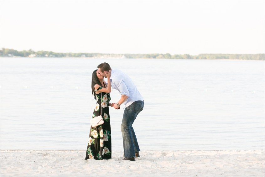 yorktown virginia beach proposal candid portrait