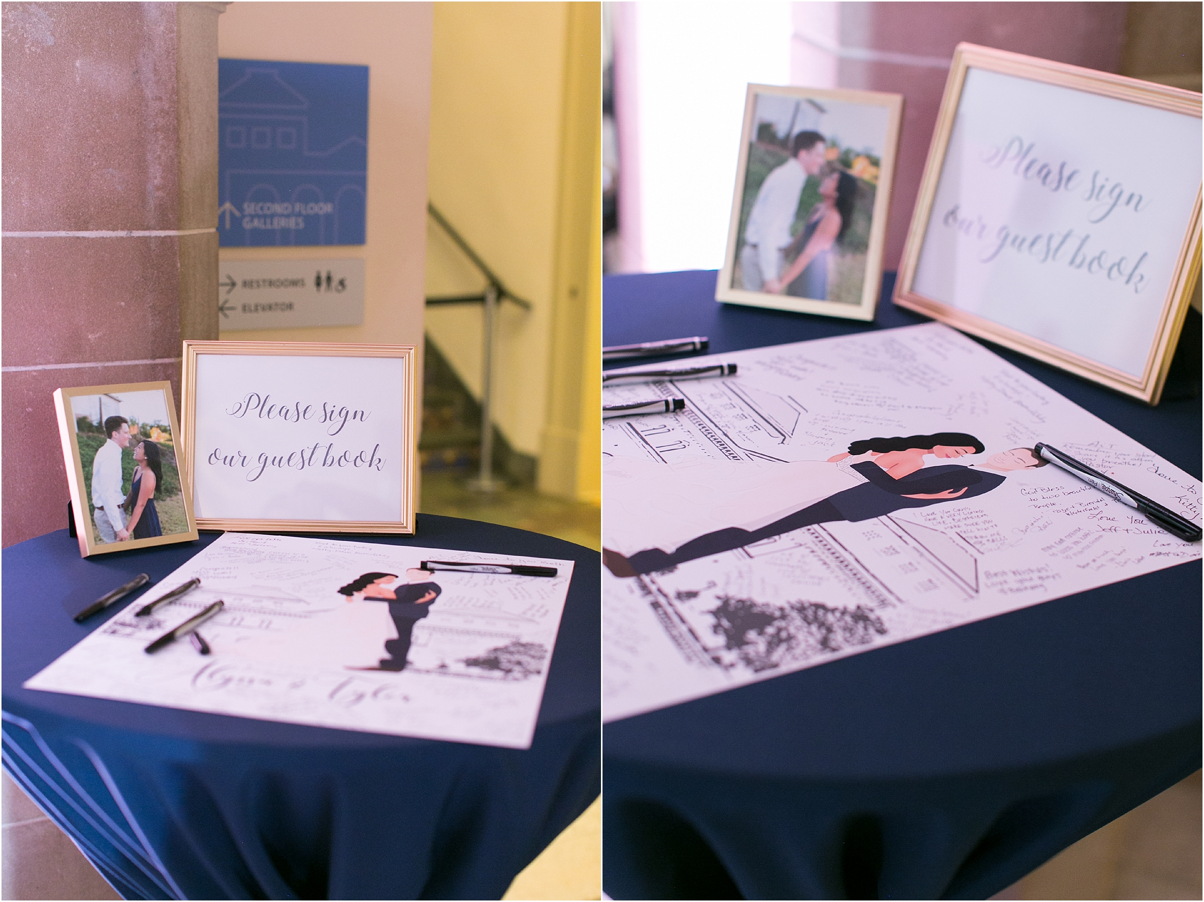 Chrysler Museum of Art elegant wedding reception jessica ryan photography paperdolls design