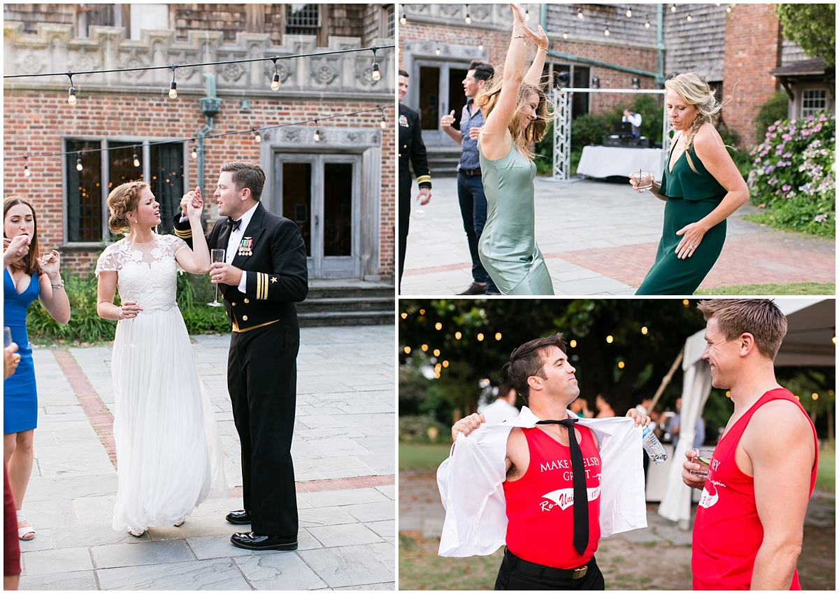garden wedding at the hermitage museum and gardens reception