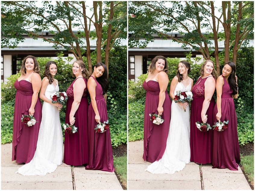 musuem of contemporary art wedding, MOCA wedding, virginia beach wedding bridal party