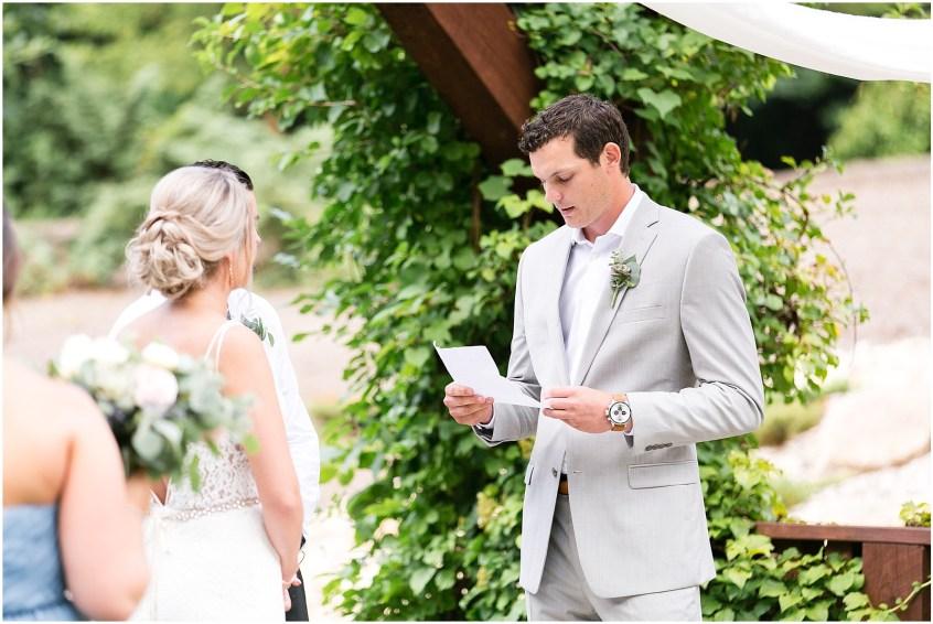 house mountain inn wedding lexington Virginia, wedding ceremony, hand written vows