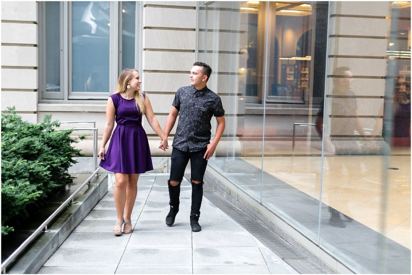 slover library downtown norfolk virginia engagement photography