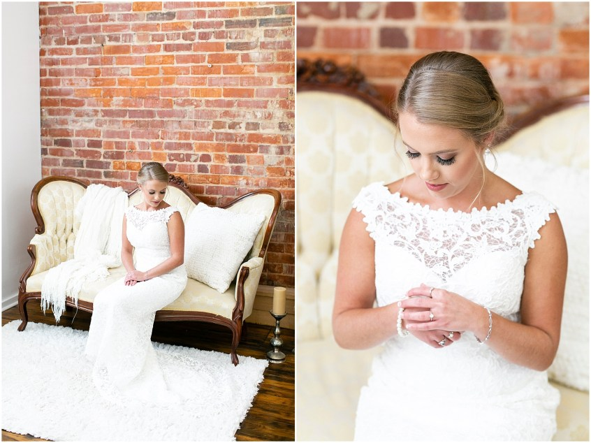 studio at wharf hill bridal portrait, Jessica Ryan photography, southern bride