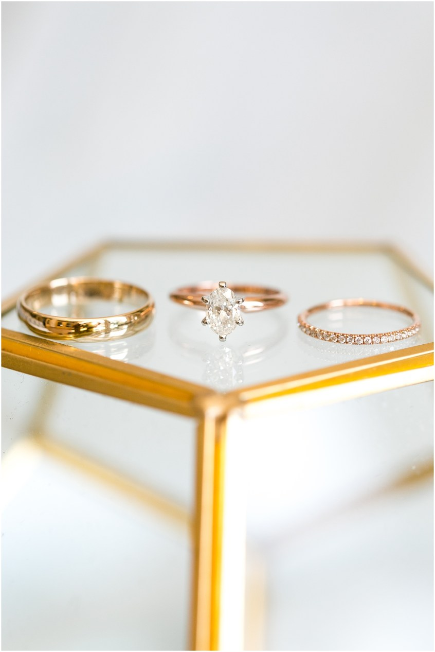 virginia beach wedding photography, wedding details, rose gold wedding decor