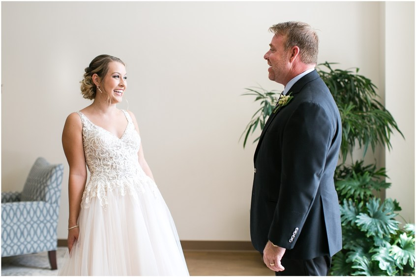 virginia beach wedding photography, father and daughter first look