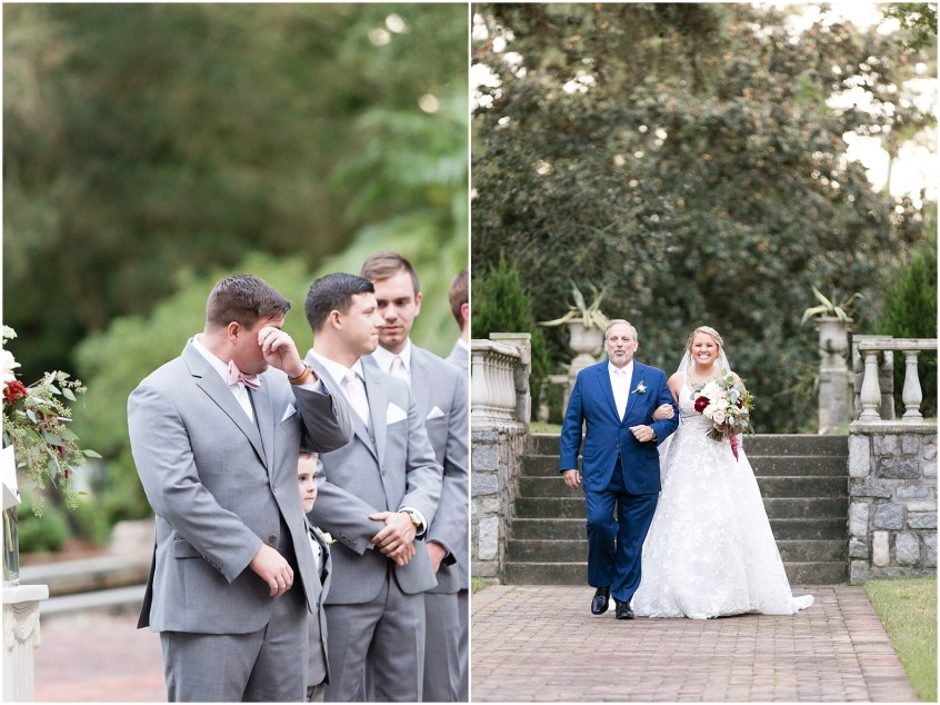 wedding ceremony at norfolk botanical gardens wedding day, jessica ryan photography, fluttering flowers, jessica ryan photography, studio i do, blush by hayley paige wedding dress, blushtones, flawless onsite,