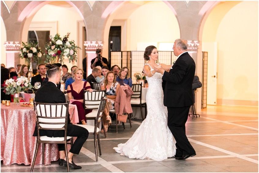 wedding reception at chrysler museum wedding, norfolk, virginia, fall wedding, baxter creative events, palette of petals