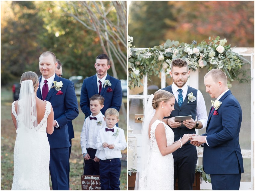 Mann and Wife Florist, Harley's Haven Wedding Ceremony, Smithfiled, Virginia