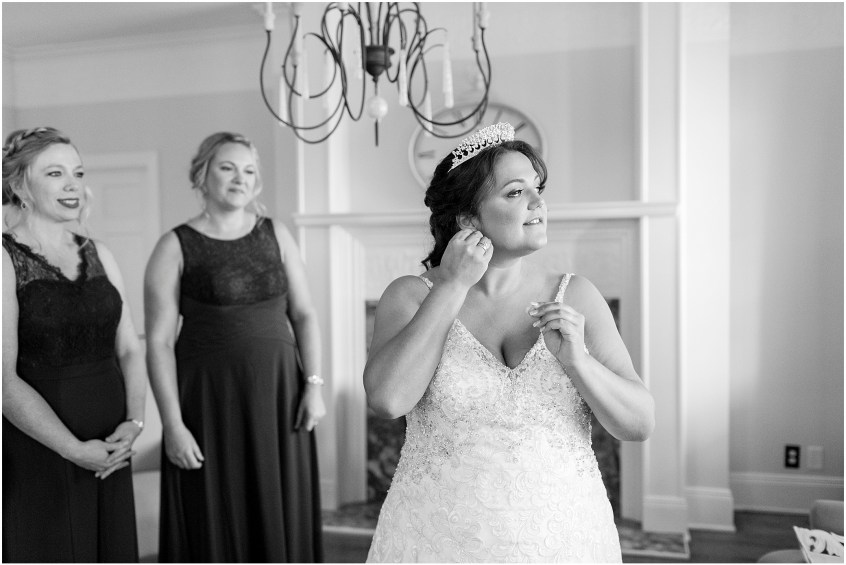 crystal clear event wedding giveaway, historic post office wedding, Waterford event rentals, bride getting ready in bridal suite