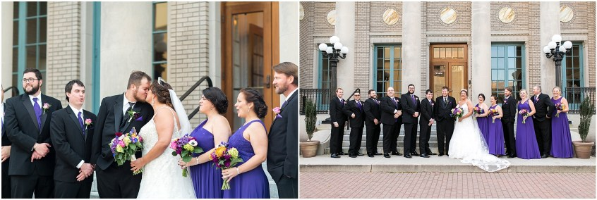 crystal clear event wedding giveaway, historic post office wedding, Waterford event rentals, bridal party portrait