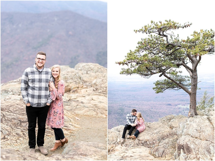 blue ridge parkway engagements, ravens roost candid couple photography