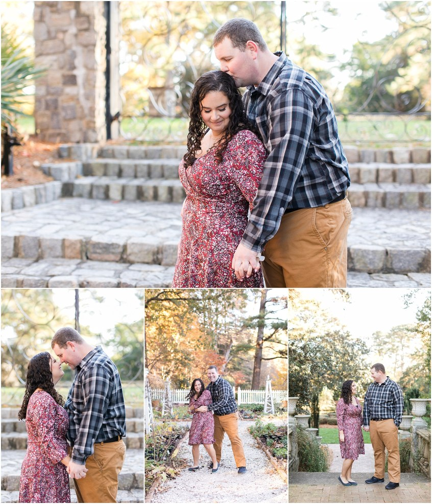 winter norfolk botanical gardens engagement session