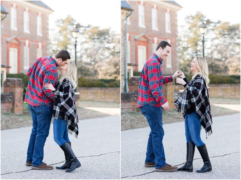 historic Yorktown engagement photography