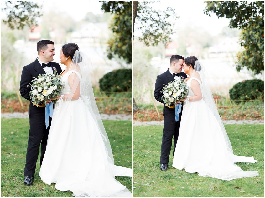 bride and groom candid portrait, spring wedding at the hermitage museum and gardens, Jessica Ryan photography, crafted stems wedding florist, sunkissed events