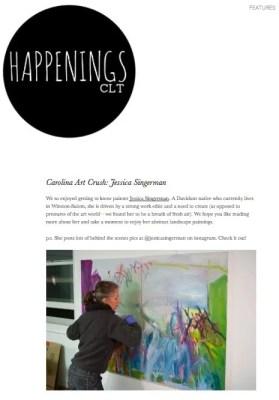 HappeningsCLT JessicaSingerman Art Crush