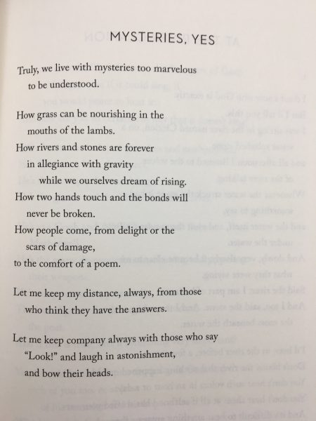 Mary Oliver - Mysteries, Yes