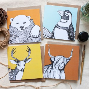 Festive Animal Greeting Cards