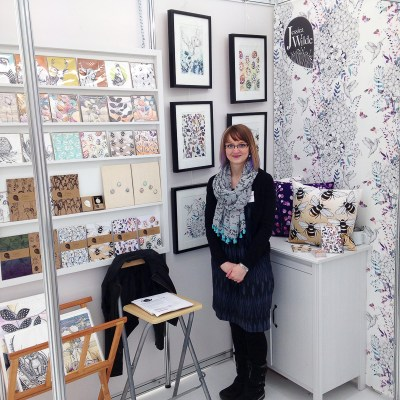BCTF Exhibition Stand 2016, Illustration & Gift wholesale products by Jessica Wilde Designs, featuring botanical nature inspired art and gifts.