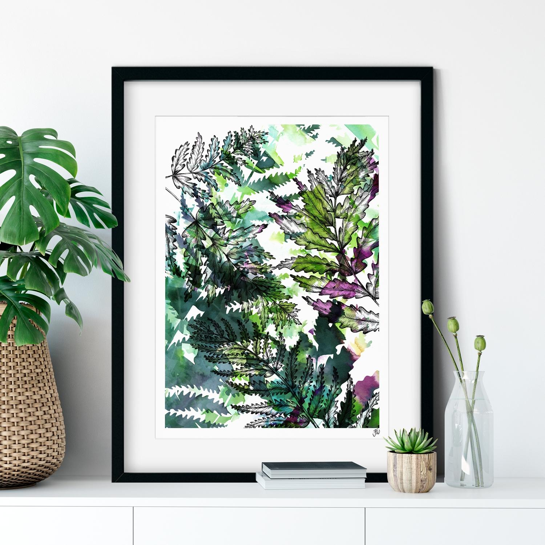 Botanical Fern Art Print