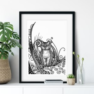 Cheshire Cat Illustration