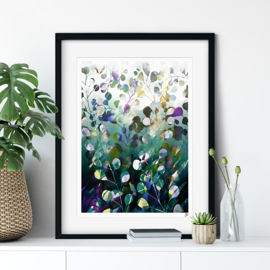 Midnight Botanica Art Print