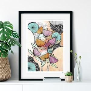 Zen Garden Stylised Floral Illustration