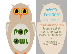 Pop Owl business card