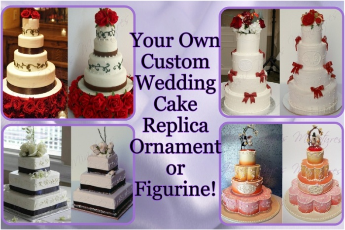 Jessie Raye s Miniatures   Wedding Cake Replica Ornaments and Doll     Jessie Raye s Miniatures   Wedding Cake Replica Ornaments and Doll  Miniatures