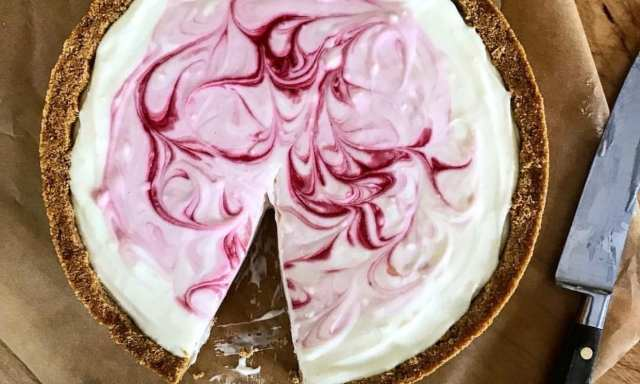 The Crust Is Graham Er And Filling Cream Cheese Condensed Milk No Matter What You May Have Thought About Cheesecake Prior To Reading