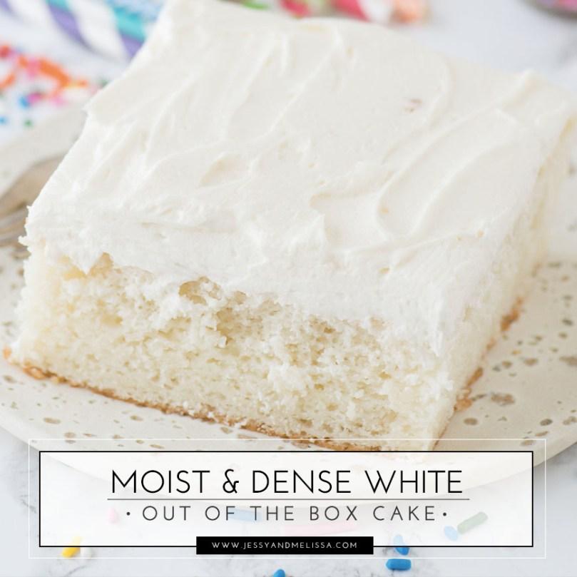 Moist Dense White Out Of The Box Cake Jessy Melissa