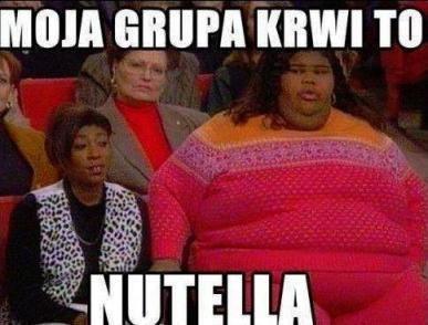 gruba świnie gruby brzuch nutella