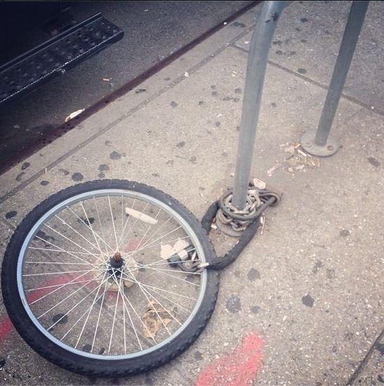 ukradziony rower zostało koło