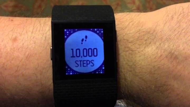 fitbit surge cel kroków