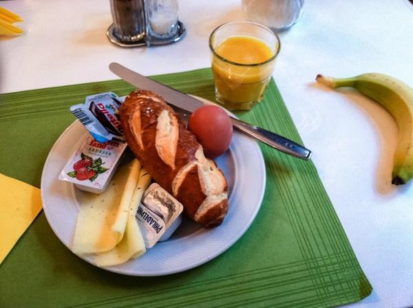 Pretzel Bread at Breakfast
