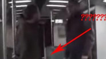 Ten facet próbuje zaatakować kobietę w metro. Na szczęście został powstrzymany… w najlepszy możliwy sposób!
