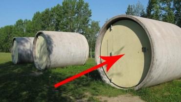 Nie uwierzysz co znajduje się w tych betonowych kręgach!  Genialne!