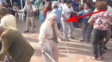 Staruszek odzyskał młodość! Rzucił kule i zrobił coś naprawdę niesamowitego!