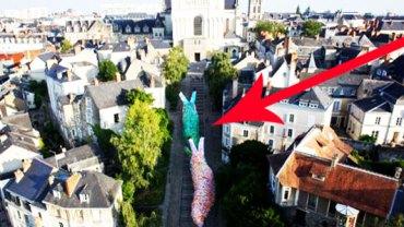 Dwa wielkie ślimaki przed kościołem w Angers! Zobacz, co tam robią!