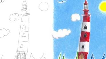Ten tata w kreatywny sposób kończy niedokończone rysunki swoich dzieci. Zobaczcie niezwykłe efekty jego pracy!