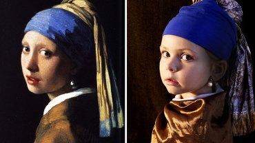 Pomysłowa mama odtwarza obrazy znanych malarzy. Zobacz niezwykłe zdjęcia inspirowane dziełami największych twórców