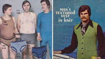 Zachwyć się modą męską z lat 70. Ja dalej nie wiem, co jest bardziej HOT – te swetry czy ten wąs!