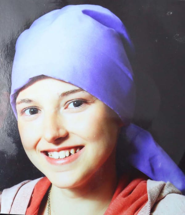 PIC FROM CATERS NEWS - (PICTURED: Athena) - A 12-year-old girl who died following a battle with cancer left a heart-wrenching secret message hidden on the back of her mirror. Athena Orchard, died last Wednesday (May 28) after losing her fight with the terminal disease. Just days after her death, Athenas dad Dean was stunned to discover a giant heartfelt note written in marker pen on the back of his daughters mirror. The message was written after Athena was diagnosed with cancer - which she discovered after finding a tiny lump on her head in December last year. Before she died, she penned the lengthy message which remained undiscovered until days after her death. SEE CATERS COPY.