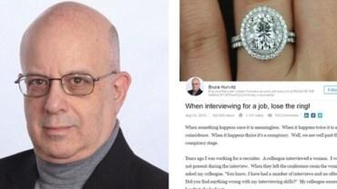 Profesjonalny rekruter powiedział, dlaczego kobiety nie powinny zakładać pierścionka zaręczynowego na rozmowy o pracę...